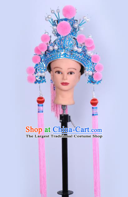 Chinese Traditional Peking Opera Niche Warrior Hat Ancient General Helmet for Adults