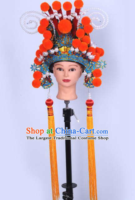 Chinese Traditional Peking Opera Chancellor Hat Ancient General Helmet for Adults