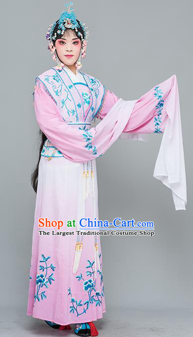 Chinese Traditional Peking Opera Nobility Lady Costumes Ancient Peri Pink Dress for Adults