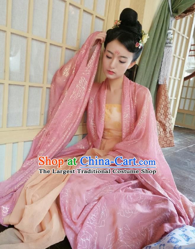 Chinese Ancient Tang Dynasty Princess Costumes The Rise of Phoenixes Palace Lady Dress for Women