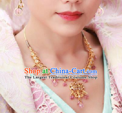 Chinese Traditional Handmade Hanfu Necklace Ancient Queen Necklet for Women