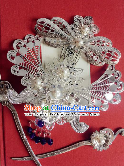 Handmade Chinese Ancient Hairdo Crown Hair Accessories Hanfu Hairpins for Women