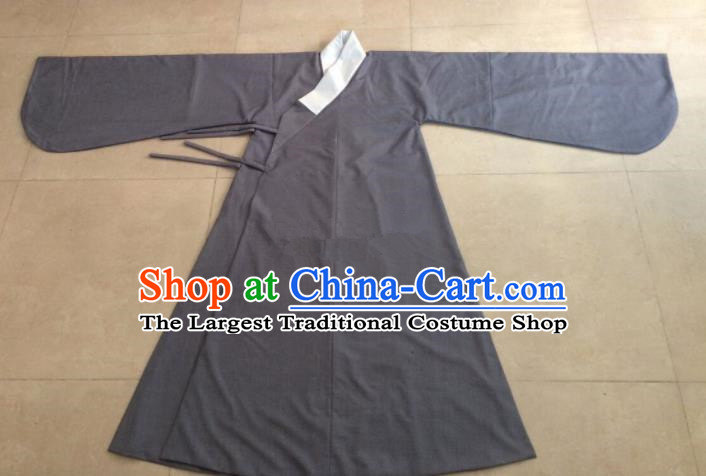 Chinese Ancient Costumes Ming Dynasty Taoist Priest Grey Robe for Men