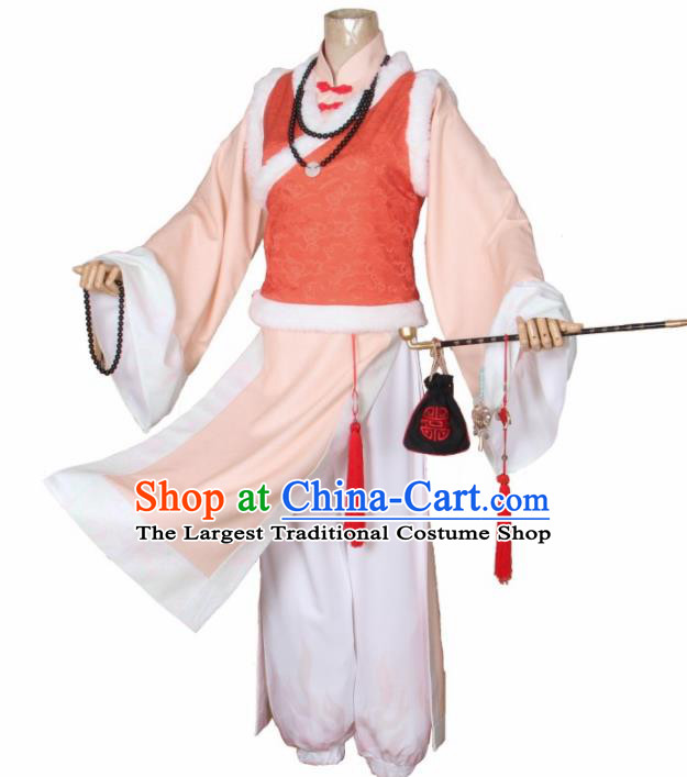 Traditional Chinese Ancient Qing Dynasty Waiter Costumes for Men