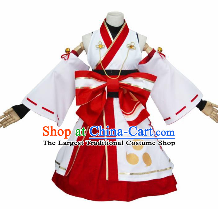Asian Traditional Cosplay Costumes Japanese Ancient Furisode Kimono Yukata Clothing for Women