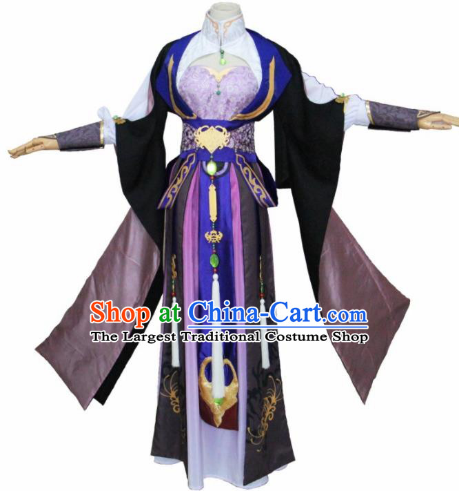 Chinese Traditional Cosplay Princess Costumes Ancient Swordswoman Hanfu Dress for Women