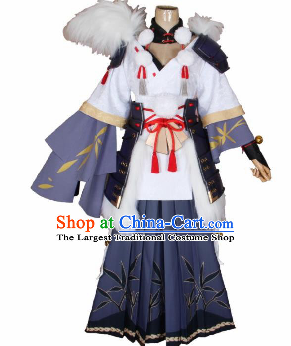 Asian Japanese Traditional Swordsman Cosplay Costumes Ancient Onmyoji Clothing for Men