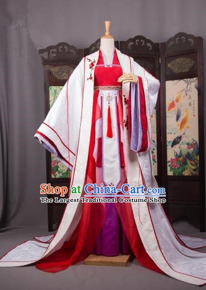 Traditional Chinese Handmade Cosplay Palace Costumes Ancient Han Dynasty Queen Hanfu Dress for Women