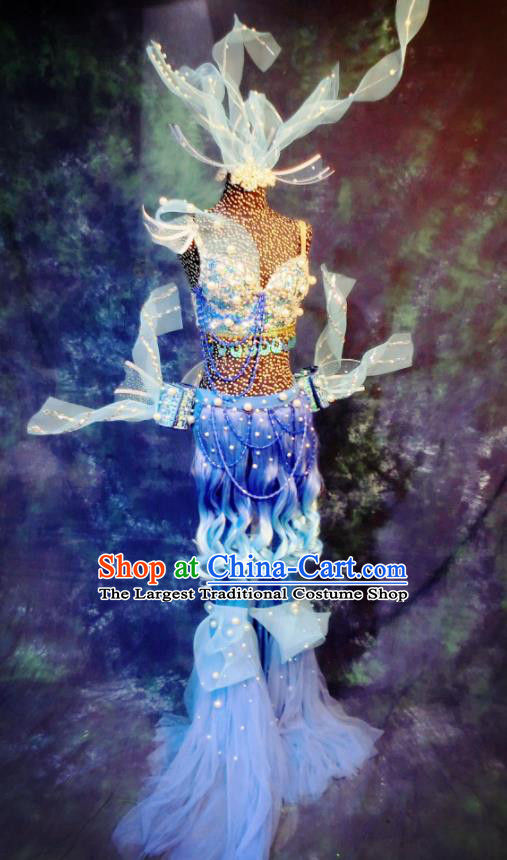 Top Grade Stage Performance Costumes Sea World Cosplay Clothing and Headdress for Women