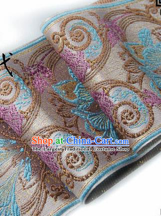 Traditional Chinese Handmade Brocade Belts Ancient Embroidered Brocade Lace Trimmings Accessories