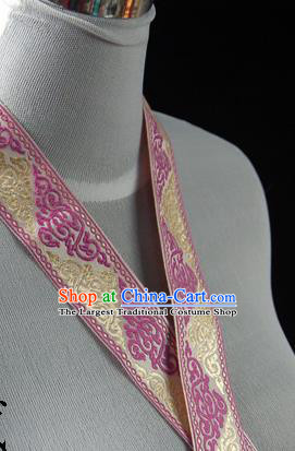 Traditional Chinese Handmade Golden Brocade Belts Ancient Embroidered Brocade Lace Trimmings Accessories