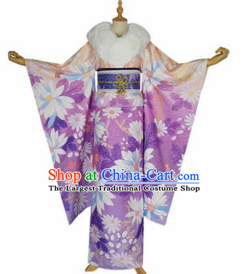 Japanese Traditional Courtesan Furisode Kimono Costumes Ancient Cosplay Geisha Yukata Clothing for Women