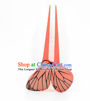 Japanese Traditional Courtesan Orange Hair Comb Hairpins Ancient Geisha Kimono Hair Accessories for Women