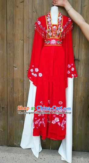 Chinese Traditional Beijing Opera Princess Costumes Ancient Nobility Lady Embroidered Red Dress for Women