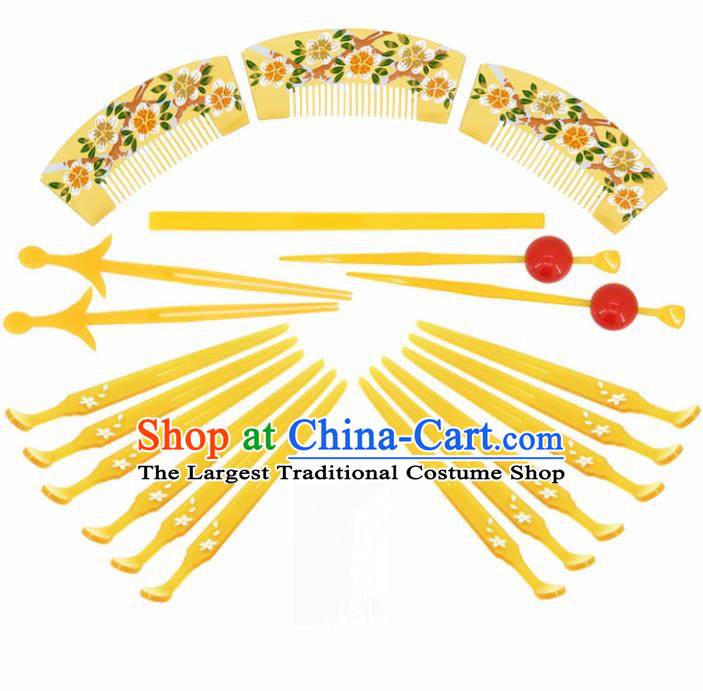 Japanese Traditional Courtesan Hair Accessories Ancient Kimono Yukata Hairpins Hair Combs for Women
