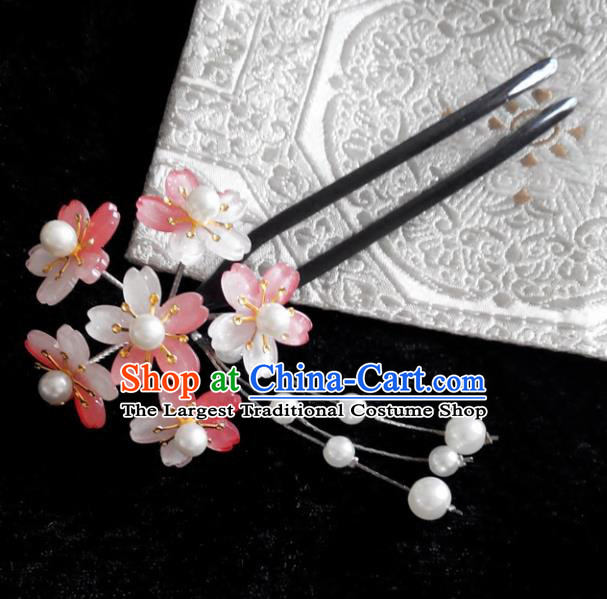Japanese Traditional Courtesan Hair Accessories Hair Clip Ancient Kimono Yukata Tassel Hairpins for Women