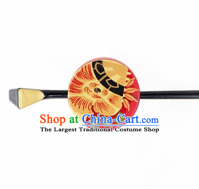 Japanese Traditional Courtesan Red Hairpins Ancient Geisha Kimono Hair Accessories for Women