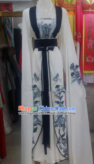 Chinese Traditional Beijing Opera Court Maid Dress Ancient Palace Princess Embroidered Costumes for Rich