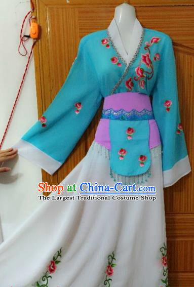 Chinese Traditional Peking Opera Peri Dress Ancient Maidservants Embroidered Costumes for Women