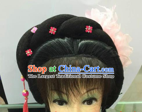 Chinese Traditional Ancient Beijing Opera Peri Wig Sheath and Hairpins Hair Accessories for Women