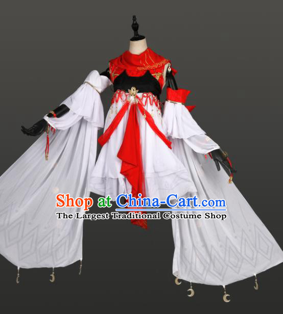 Traditional Chinese Cosplay Swordswoman Hanfu Dress Ancient Peri Costume for Women