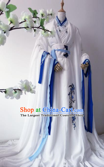 Traditional Chinese Cosplay Swordsman Hanfu Clothing Ancient Prince Costume for Men