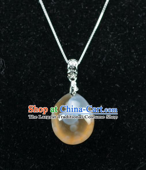 Chinese Traditional Jewelry Accessories Ancient Hanfu Agate Necklace for Women