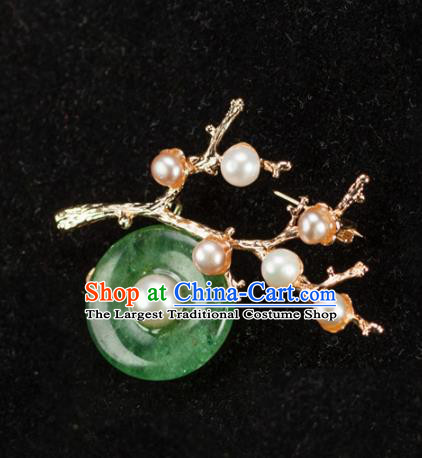 Chinese Traditional Jewelry Accessories Breastpin Ancient Hanfu Pearls Brooch for Women