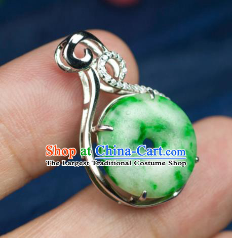 Chinese Traditional Jewelry Accessories Jadeite Necklace Ancient Hanfu Necklet for Women
