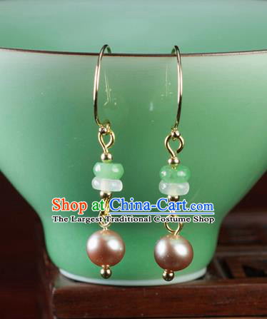Chinese Traditional Jewelry Accessories Ancient Hanfu Pearl Earrings for Women