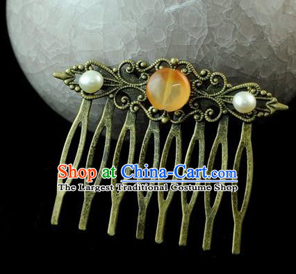 Chinese Traditional Hair Comb Hair Accessories Ancient Palace Classical Hairpins for Women