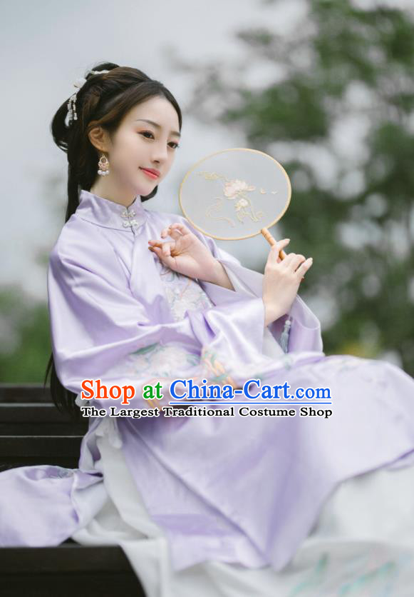 Chinese Ancient Palace Lady Hanfu Ming Dynasty Imperial Concubine Queen Embroidered Historical Costumes