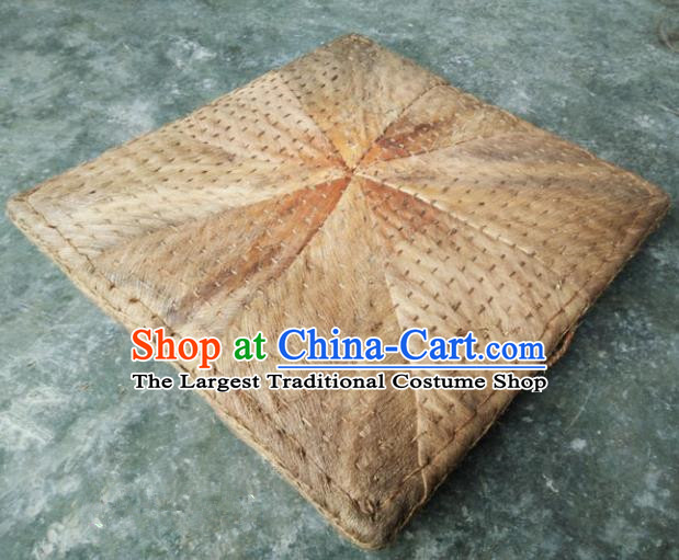 Chinese Traditional Handmade Craft Straw Braid Cattail Hassock Rush Cushion