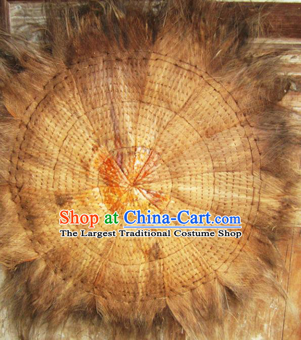 Chinese Traditional Handmade Coir Mat Craft Straw Braid Cattail Hassock Rush Cushion