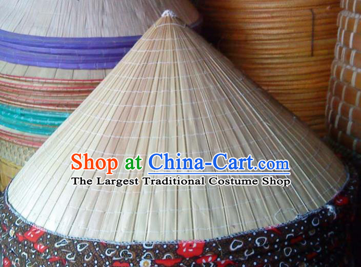 Chinese Traditional Handmade Craft Straw Hat Bamboo Hat