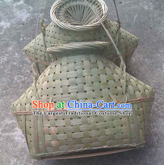 Chinese Traditional Handmade Straw Braid Craft Bamboo Weaving Creel