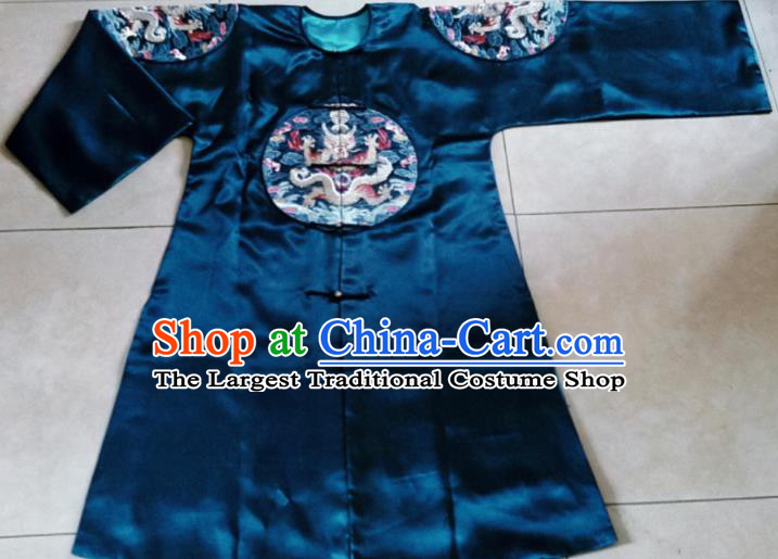 Chinese Traditional Palace Dresses Ancient Qing Dynasty Queen Embroidered Costumes for Women