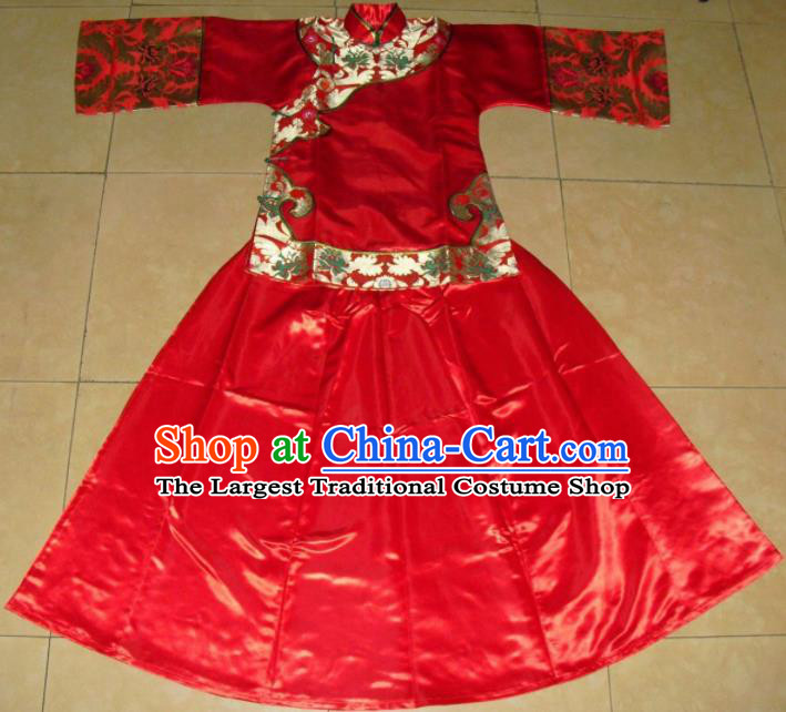Chinese Traditional Xiuhe Suit Ancient Bride Embroidered Wedding Costumes for Women