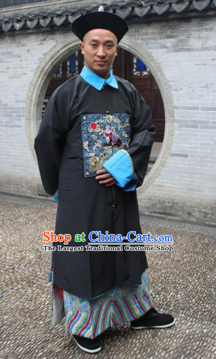 Chinese Traditional Ancient Qing Dynasty Minister Embroidered Costume for Men