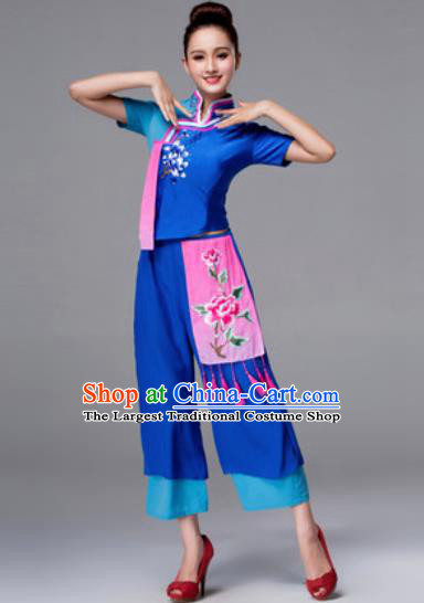 Traditional Chinese Folk Dance Dress Stage Performance Yangko Dance Costumes for Women