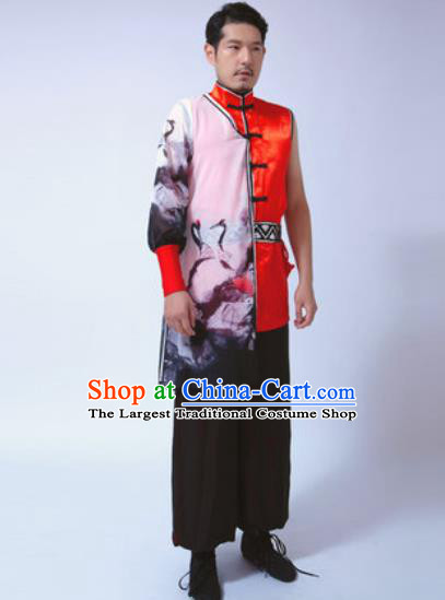 Chinese Traditional Martial Arts Costumes Tang Suit Kung Fu Clothing for Men