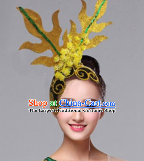 Chinese Traditional Folk Yanko Dance Hair Accessories Classical Dance Headwear for Women