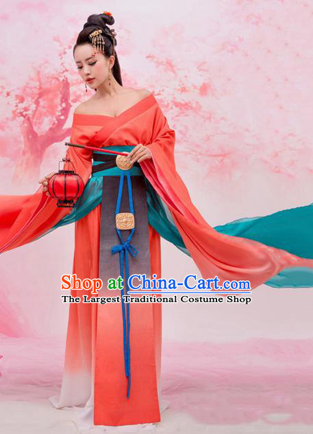 Chinese Ancient Tang Dynasty Imperial Consort Hanfu Dress for Women