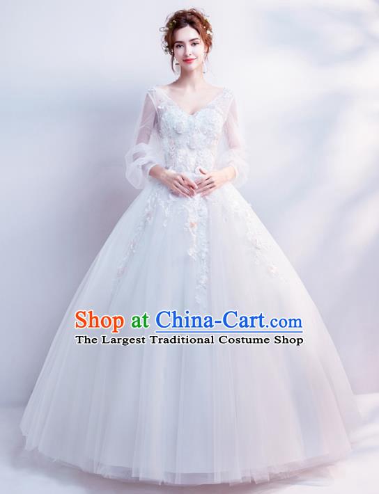 Top Grade Fancy Wedding Dress Handmade Princess Wedding Gown For Women