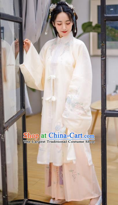 Chinese Ancient Ming Dynasty Princess Costumes Embroidered Cloak and Skirt for Women