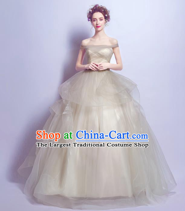 Handmade Bride Noble Wedding Dress Fancy Formal Dress Wedding Gown for Women