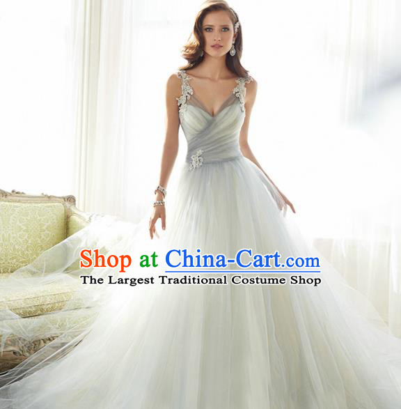 Handmade Bride Wedding Dress Fancy Formal Dress Wedding Gown for Women