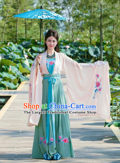 Chinese Traditional Ancient Princess Historical Costumes Tang Dynasty Hanfu Dress for Women