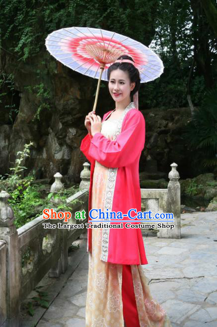 Chinese Ancient Tang Dynasty Palace Princess Hanfu Dress Traditional Royal Lady Historical Costumes