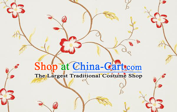 Top Grade Classical Cirrus Flowers Pattern Blue Brocade Chinese Traditional Garment Fabric Cushion Satin Material Drapery